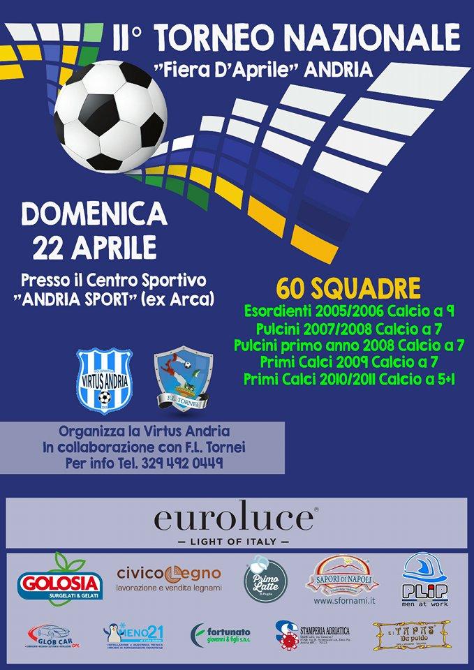 Calendario Pulcini 2006.2 Torneo Nazionale Fiera D Aprile Andria F L Tornei